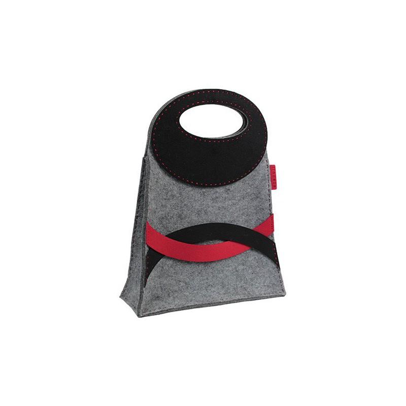 c75447b1d9b75 Szykowna torba z filcu TRAPEZE to ręcznie szyta torebka o wyjątkowym  kształcie wykonana z wytrzymałego szarego filcu technicznego.